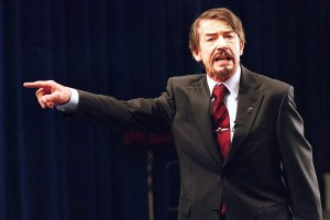 JOhn Hurt appeared as the victim of a totalitarian regime in 1984 and appears as the Leader in the V for Vendetta film.