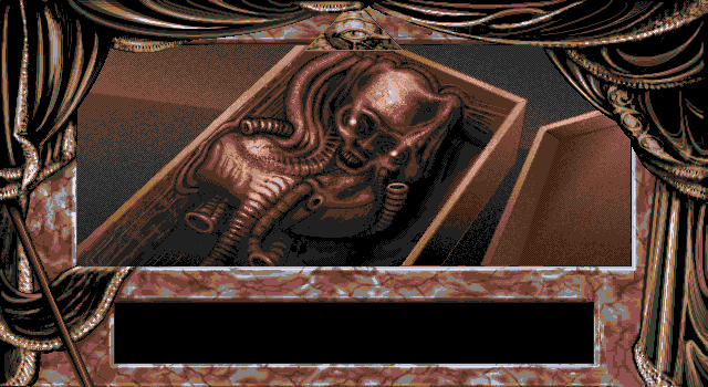 Dark Seed is a horror adventure with art by H.R. Giger.