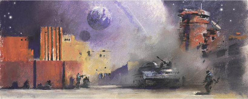 A John Harris piece commissioned for John Scalzi's The Human Division.
