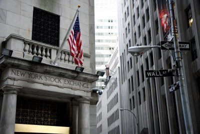 The dirty, grey architecture of Wall Street paints a realistic picture of the dreary minds of the people within.