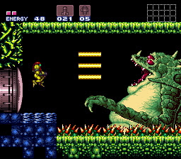 Kraid is so large he takes up two screens after becoming enraged.