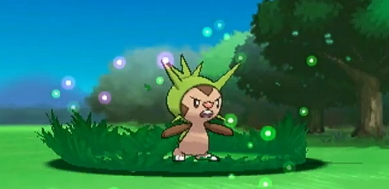 Chespin - My starter. He's an ugly boy.