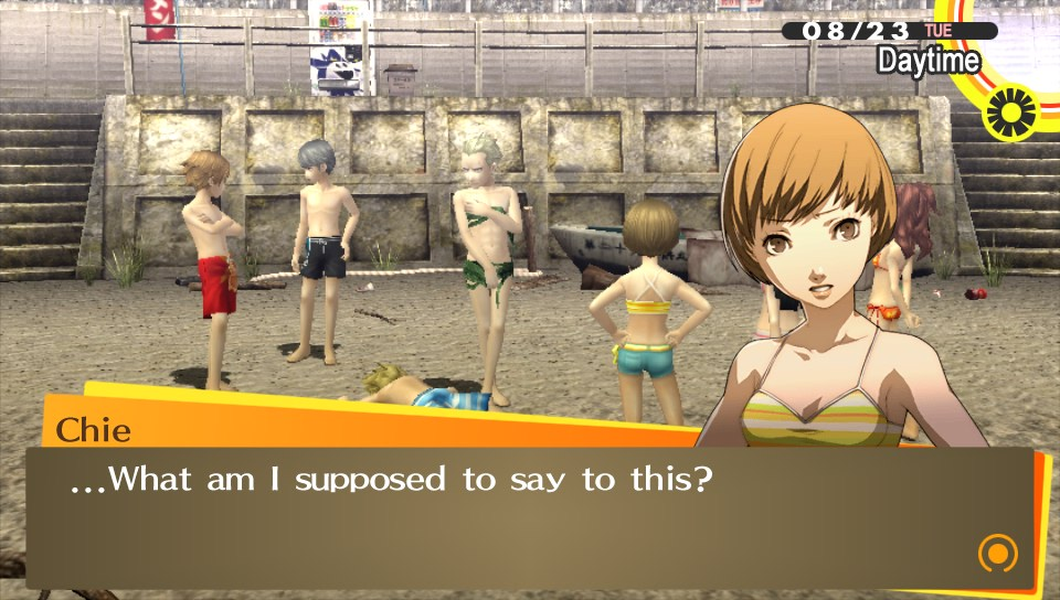 Chie at the beach